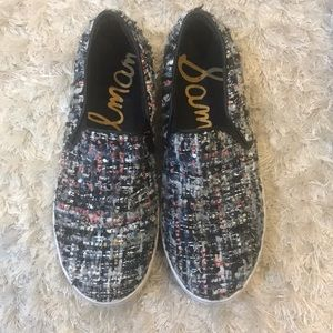 Sam Edelman multicolor tweed slip on sneakers